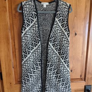 Christopher & Banks open front sleeveless cardigan